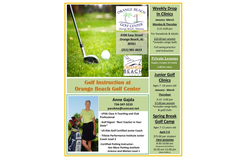 Orange Beach offering winter golf clinics for adults, juniors with youth spring break camp planned