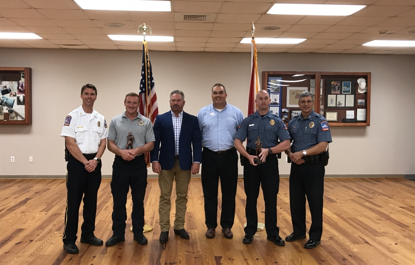 Orange Beach Firefighter and Officer of the Year awards