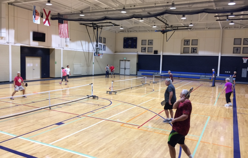 Pickleball Players At Orange Beach Rec Center 12 2017