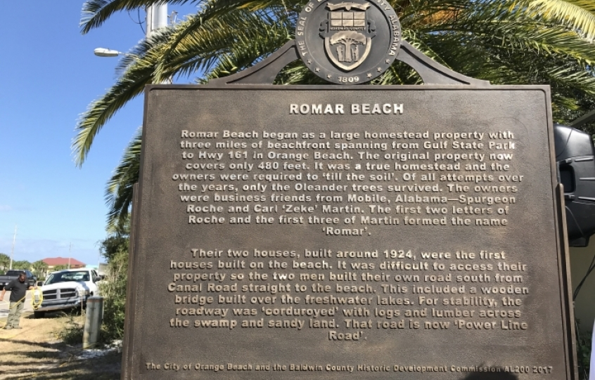 Romar Beach historical marker unveiled