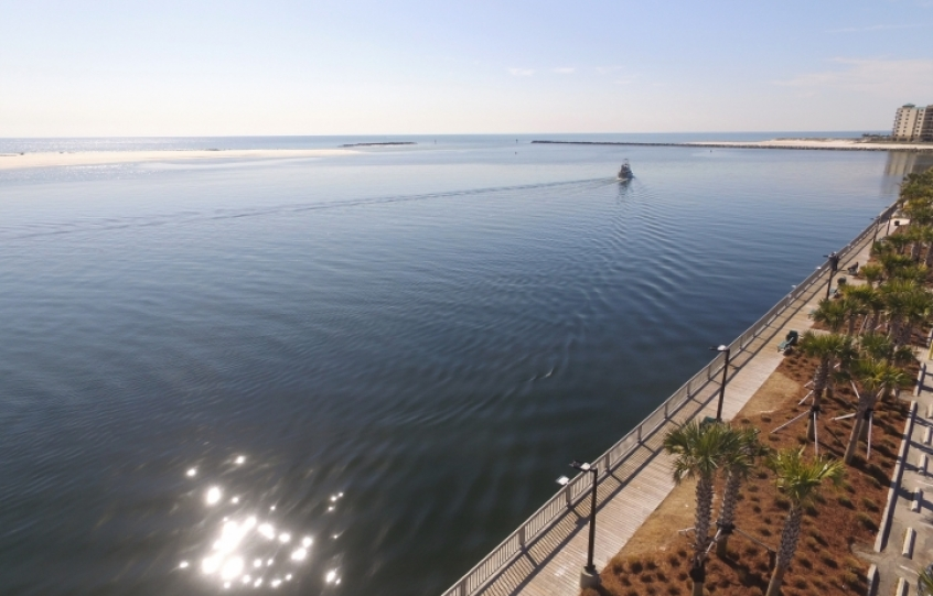 Seawall Park overlooking Perdido Pass, January 2018