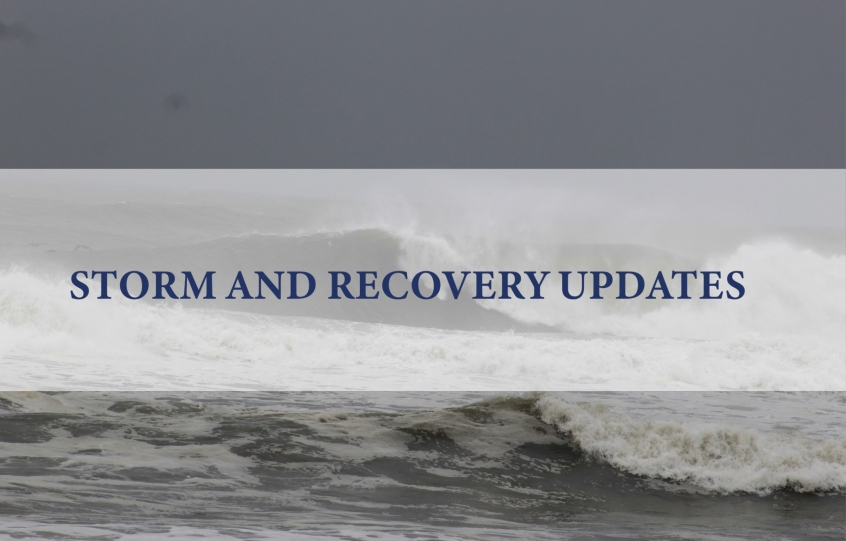 Storm and Recovery updates graphic for City of Orange Beach website