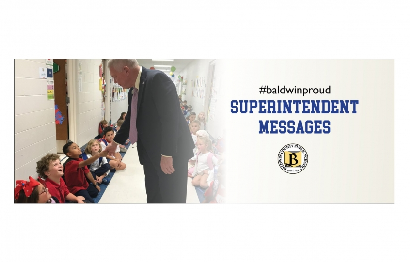 Update from Baldwin County Schools Superintendent Eddie Tyler: reminders and expectations