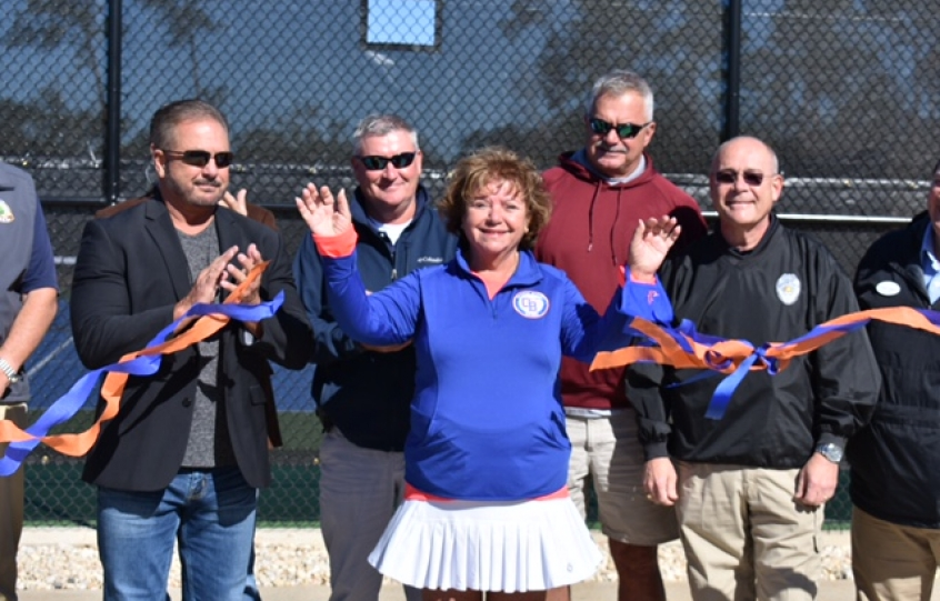 Orange Beach Tennis Center grand reopening held on November 18, 2020.