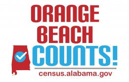 Orange Beach Counts graphic to support the 2020 Census outreach