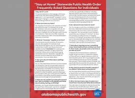 """Stay at Home"" Statewide Public Health Order Frequently Asked Questions for Individuals"