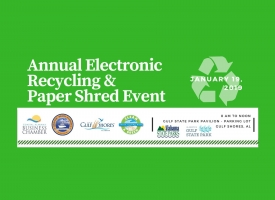 2019 E-Cycling and Shred Day graphic