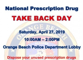 OBPD to host National Prescription Drug Take Back Day from 10 a.m. to 2 p.m. on Saturday, April 27, 2019