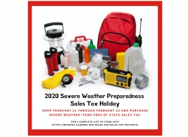 2020 Severe Weather Preparedness Sales Tax Holiday set for Feb. 21-23