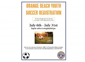 2020 Orange Beach Youth Soccer Flier