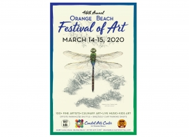 2020 Orange Beach Festival of Art poster