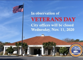 City offices closed Wednesday, Nov. 11 in observance of Veterans Day