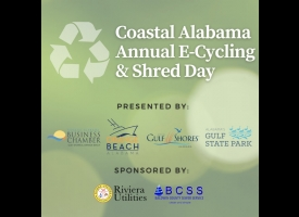 2021 Coastal Alabama Annual E-Cycling and Shred Day graphic