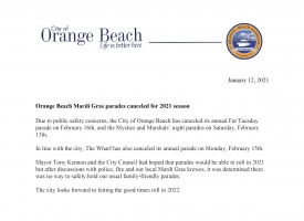 Orange Beach Mardi Gras parades canceled for 2021 season