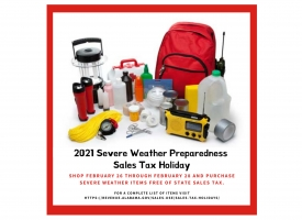 2021 Severe Weather Preparedness Sales Tax Holiday set for Feb. 26-28