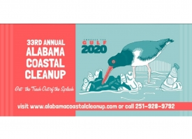 33rd Annual Alabama Coastal Cleanup banner graphic