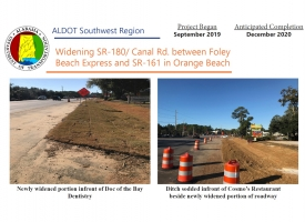 ALDOT November 2019 Newsletter: Widening SR-180/Canal Road in Orange Beach