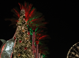 Orange Beach Christmas tree lighting at The Wharf