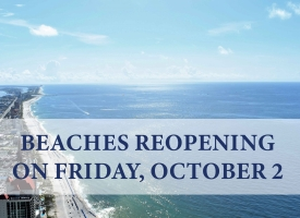 Orange Beach and Gulf Shores Extend Closures, Beaches Reopen October 2