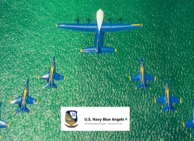 Blue Angels photo from official Facebook page with graphic