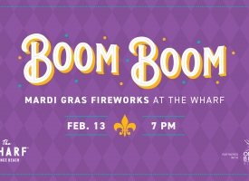 Boom Boom 2021 Mardi Gras Fireworks - A Socially Distant Event
