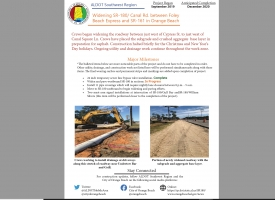 ALDOT December 2019 Newsletter: Widening SR-180/Canal Road in Orange Beach