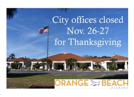 City offices to close Nov. 26-27 in observance of 2020 Thanksgiving holiday