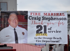 Fire Marshal Craig Stephenson retirement parade, 5.29.20