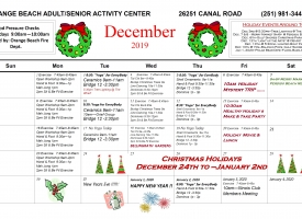 Orange Beach Adult/Senior Activity Center December 2019 Excursions and Events