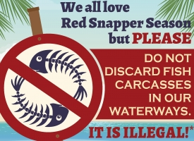 Do No discard fish carcasses flyer