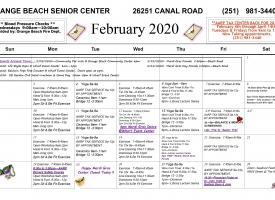 Senior Activity Center announces February 2020 Excursions and Events