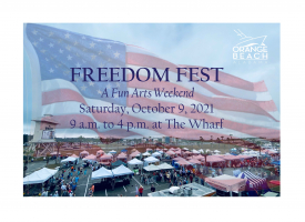 Freedom Fest, a fun Arts Weekend, set for October 9th at The Wharf
