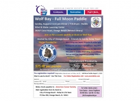 Full Moon Paddle fundraiser for Relay for Life set for August 2