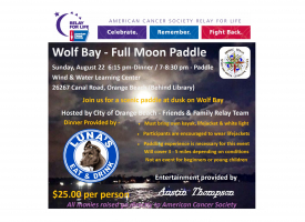 Full Moon Paddle flyer image August 2021