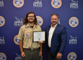 Orange Beach council recognizes Garrett Ard for earning Eagle Scout distinction with reef project
