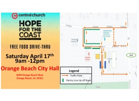 Hope for the Coast, a free food drive-thru, set for Saturday, April 17 in Orange Beach