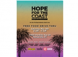 Hope for the Coast, a free food drive-thru, set Saturday, May 9 at Flora-Bama