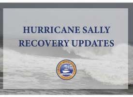 Hurricane Sally Recovery updates graphic for City of Orange Beach website