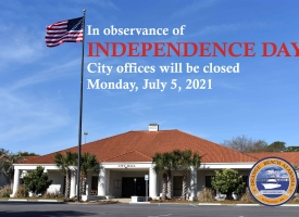City offices closed Monday, July 5th for Independence Day
