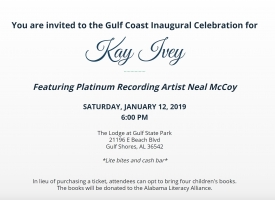 Kay Ivey invitation Gulf Coast Inaugural Celebration January 2018