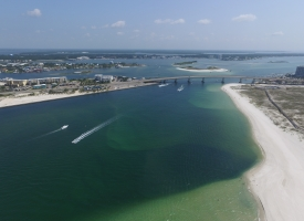 Aerial photo of Perdido Pass