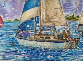 Lost in the Moment painting by Nick Cantrell of Orange Beach