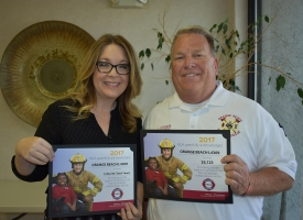 MDA recognition of OBFD - Angie Jordin and Craig Stephenson, 5.1.2018