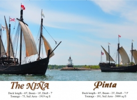 Replicas of the Nina and the Pinta to visit The Wharf