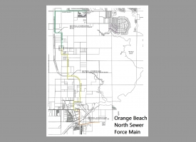 Orange Beach North Sewer Force Main project map