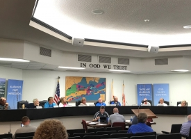 Orange Beach Planning Commission members in the Council Chambers at the June 10, 2019 meeting