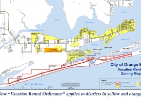 Orange Beach Vacation Rental Zoning map