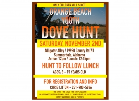 Orange Beach Youth Dove Hunt set November 2nd