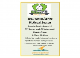 Pickleball Winter/Spring 2021 Season in Orange Beach flyer