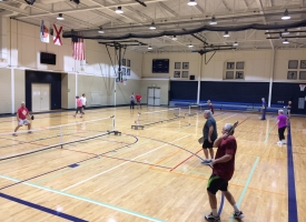 Pickleball players at Orange Beach Rec Center, 12.12.2017